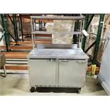 BEVERAGE AIR REFRIGERATED STAINLESS STEEL PREP TABLE, 48'' X 29'' X 36'', 2-DOOR