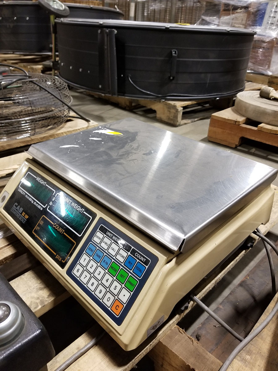 CAS SC10P COUNTING DIGITAL BENCH SCALE, 25 X 0.005 LB. CAPACITY, 14 1/2'' X 10'' SS PLATFORM - Image 2 of 4