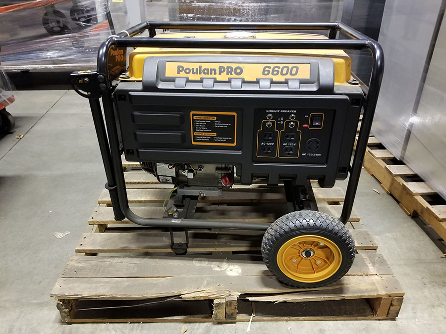 POULAN PRO 6600 PORTABLE GENERATOR- (4) 110V PLUGS, (1) 120/240V, GAS POWERED, MODEL PP6600, S/N - Image 3 of 6