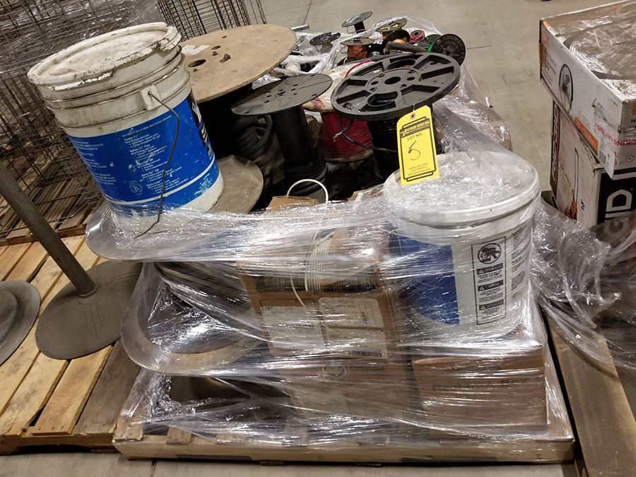 (2) PALLETS OF (30+) ASSORTED SPOOLS OF LOW VOLTAGE STRAND COPPER WIRE, INSULATED, SOME BRAIDED & - Image 8 of 8