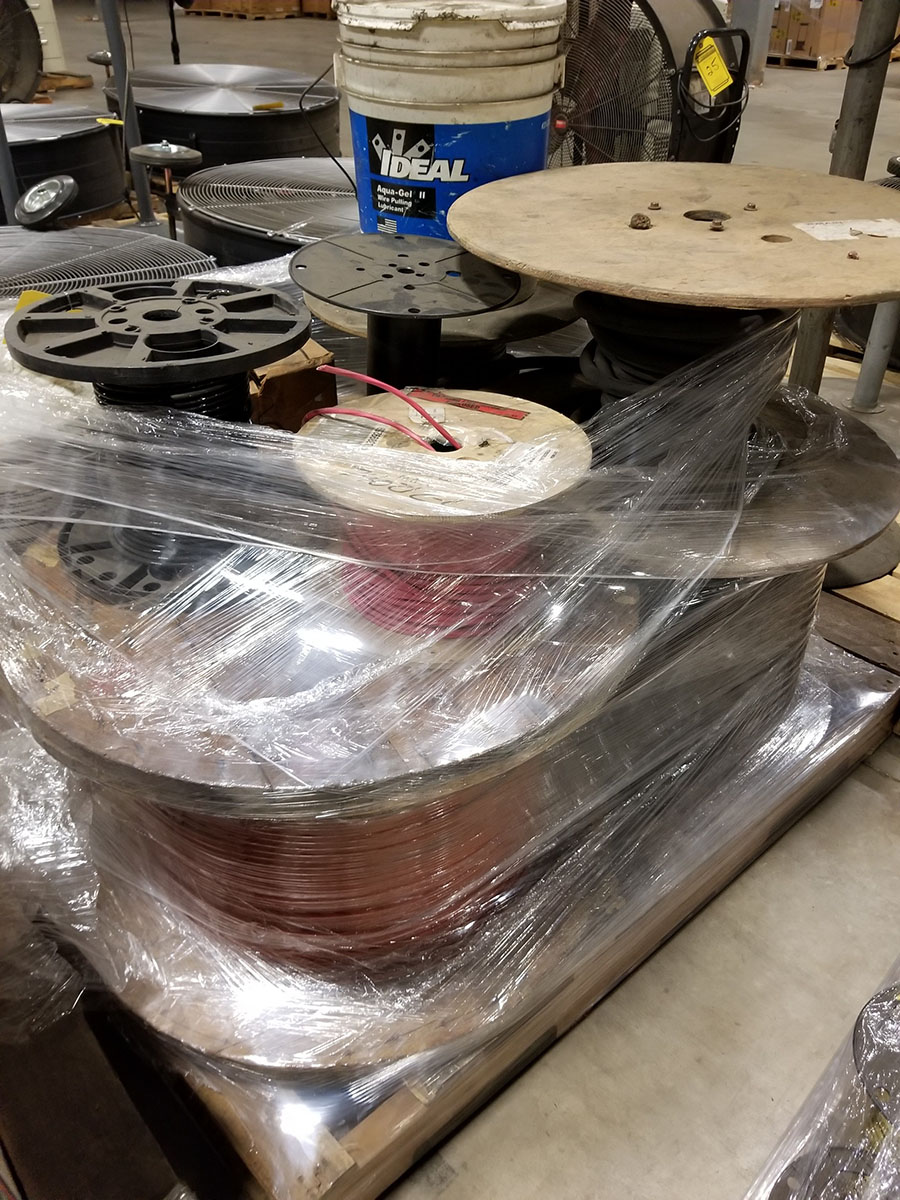 (2) PALLETS OF (30+) ASSORTED SPOOLS OF LOW VOLTAGE STRAND COPPER WIRE, INSULATED, SOME BRAIDED & - Image 5 of 8