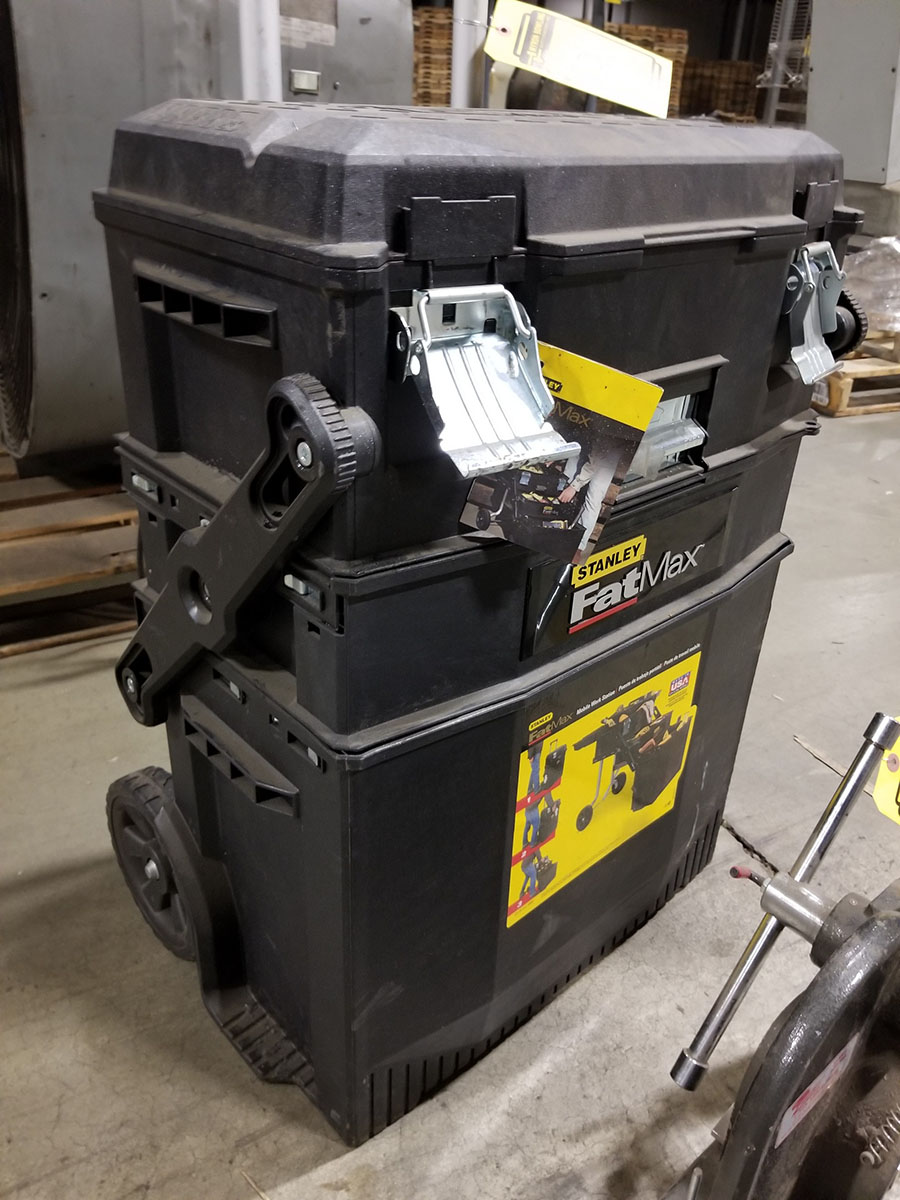 DAYTON 1-TON ARBOR PRESS, 4'' THROAT & STANLEY FAT MAX MOBILE WORKSTATION, LADDER TYPE FOLD OUT - Image 5 of 6