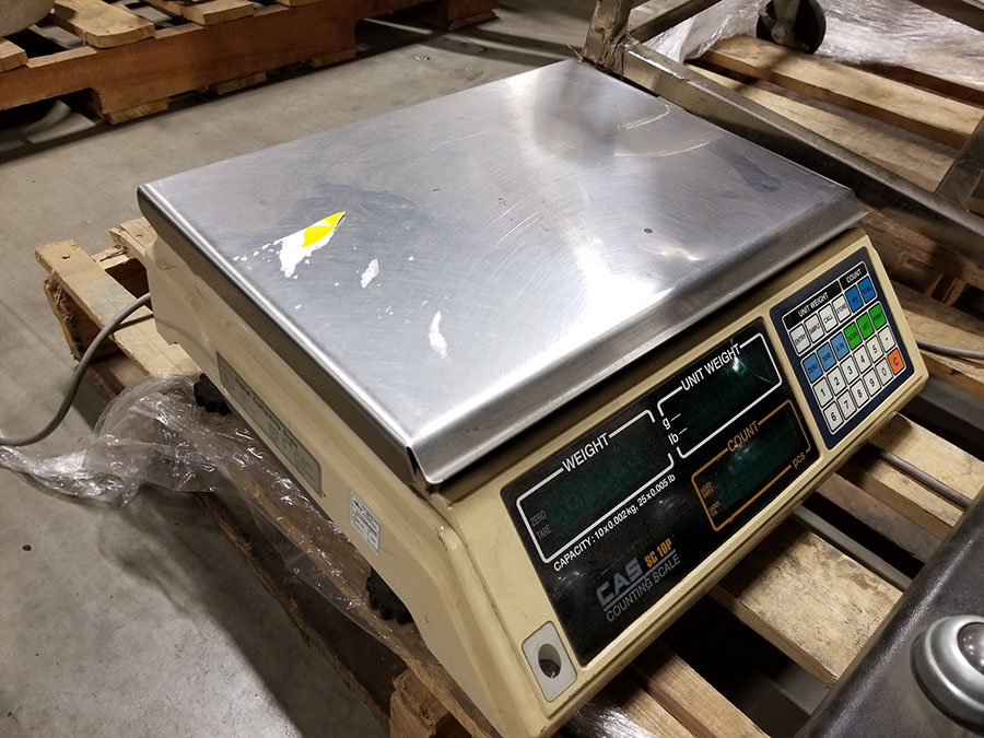 CAS SC10P COUNTING DIGITAL BENCH SCALE, 25 X 0.005 LB. CAPACITY, 14 1/2'' X 10'' SS PLATFORM - Image 3 of 4