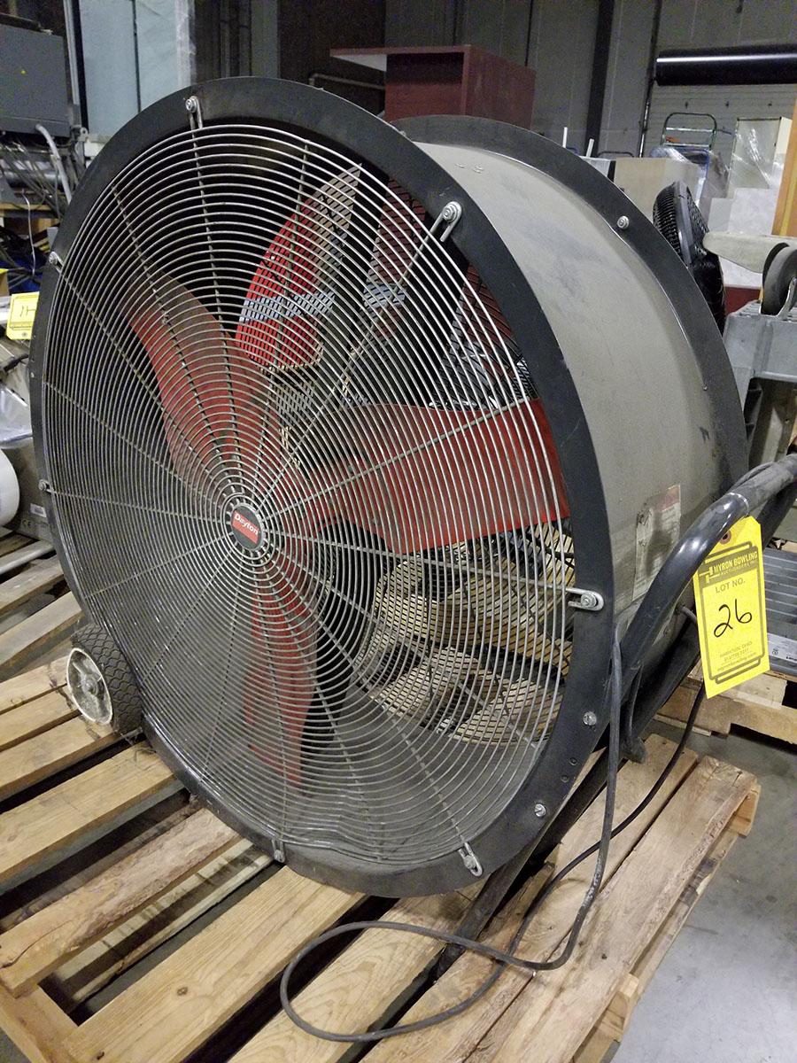 (2) DAYTON 36'' MOBILE AIR CIRCULATORS,MODEL 3C674D, 825 RPM, 1/2 HP - Image 5 of 6