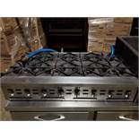 8-STATION STAINLESS STEEL COMMERCIAL STOVE RANGE, 30'' X 48''