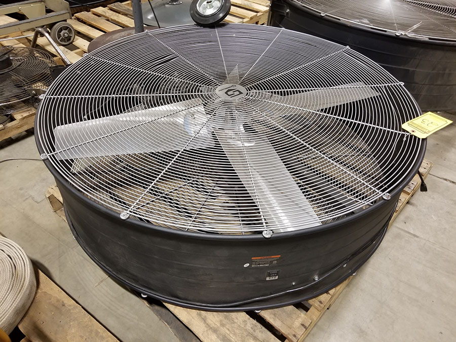 STRONGWAY 48'' BELT DRIVE DRUM FANS, MODEL 49935, 120V, 60HZ, 9A, LO/HIGH SWITCH - Image 4 of 4