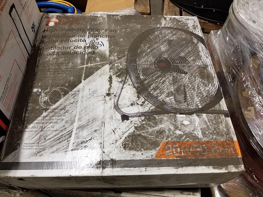 (1) RIDGID 30'' 3-SPEED FLOOR AIR MOVERS, RETRACTABLE HANDLE,1/2 HP, 1,600 SCFM (1) CLEANFREAK - Image 3 of 5