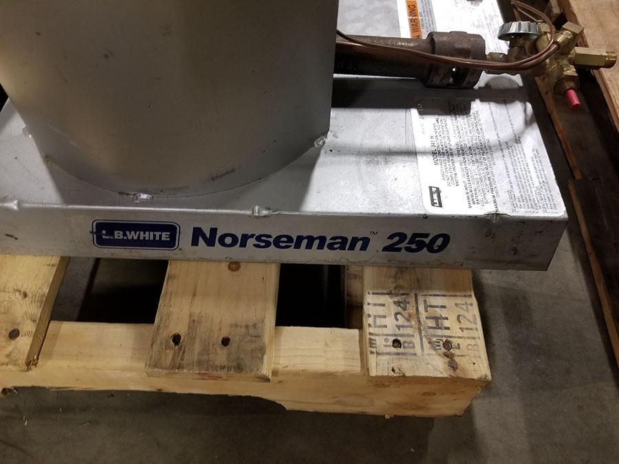 (2) LB. WHITE NORSEMAN 250 LP/GAS DIRECT FIRE CONSTRUCTION HEATERS, 250,000 BTU - Image 3 of 5