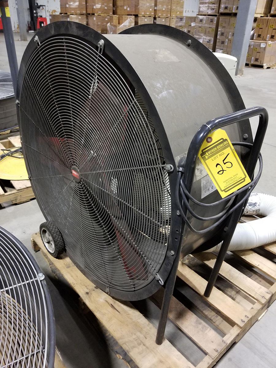 (2) DAYTON 36'' MOBILE AIR CIRCULATORS,MODEL 3C674D, 825 RPM, 1/2 HP - Image 2 of 5