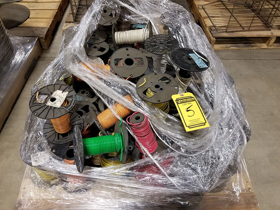 (2) PALLETS OF (30+) ASSORTED SPOOLS OF LOW VOLTAGE STRAND COPPER WIRE, INSULATED, SOME BRAIDED & - Image 2 of 8