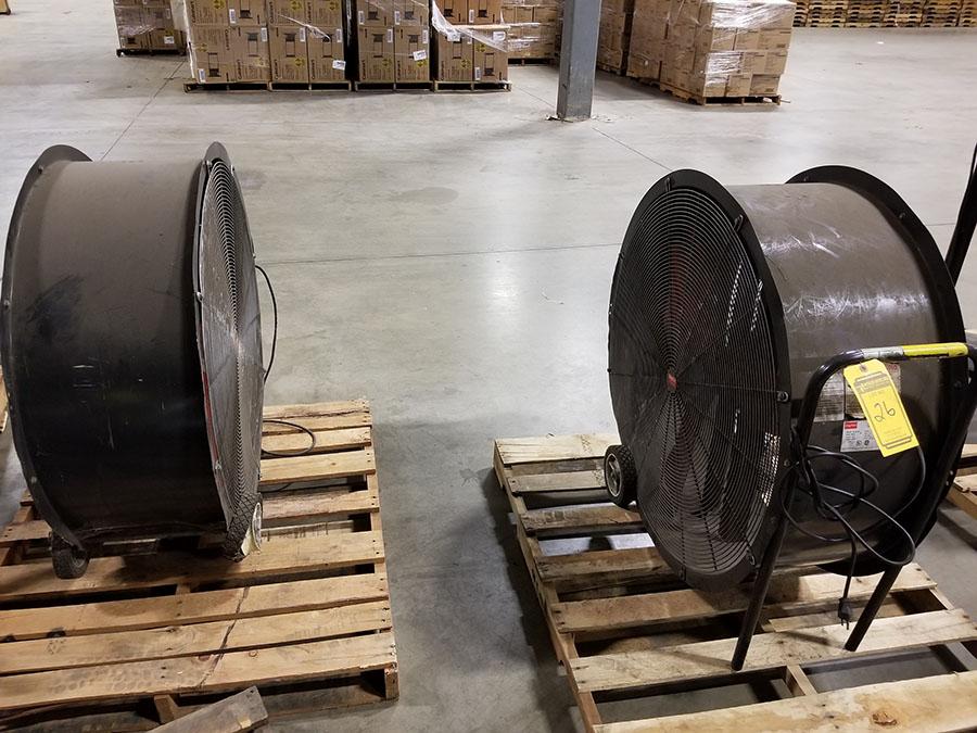 (2) DAYTON 36'' MOBILE AIR CIRCULATORS,MODEL 3C674D, 825 RPM, 1/2 HP - Image 6 of 6