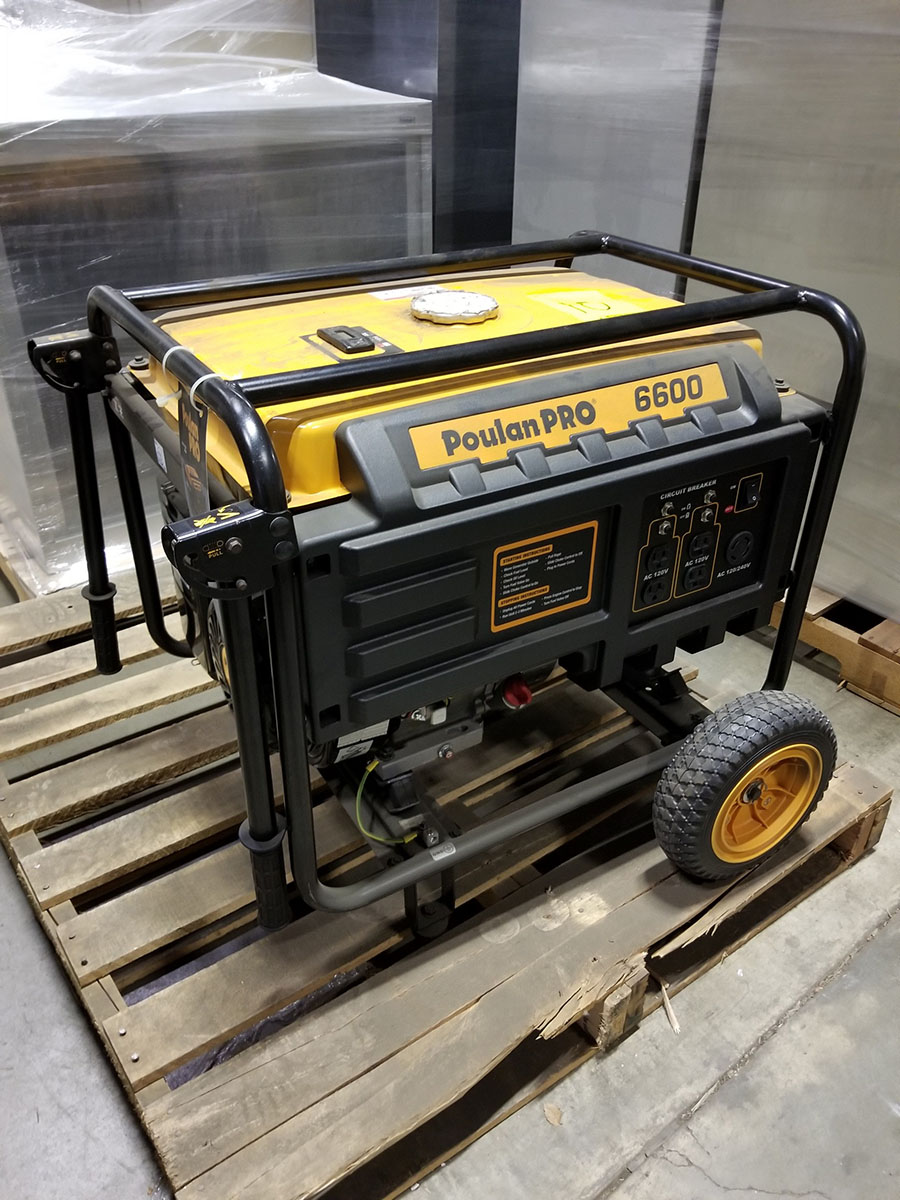 POULAN PRO 6600 PORTABLE GENERATOR- (4) 110V PLUGS, (1) 120/240V, GAS POWERED, MODEL PP6600, S/N - Image 2 of 6