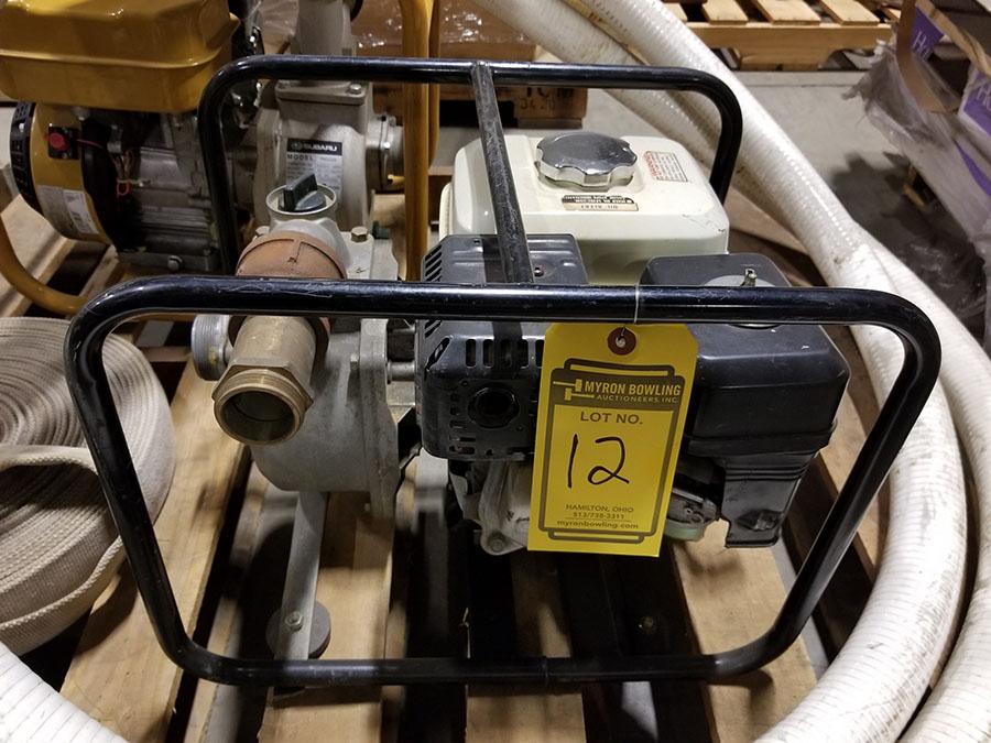 HONDA WATER PUMP, MODEL WP20X, 2'' X 2'' CONNECTORS,158 GPM, 3,600 RPM, S/N WZBE-1406821, 85' TOTAL