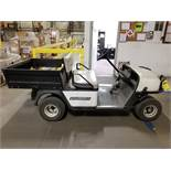 CUSHMAN COMMANDER 280 SE ELECTRIC GOLF CART, DUMP BED, 800 LB. CAPACITY, S/N 1577968, 110V
