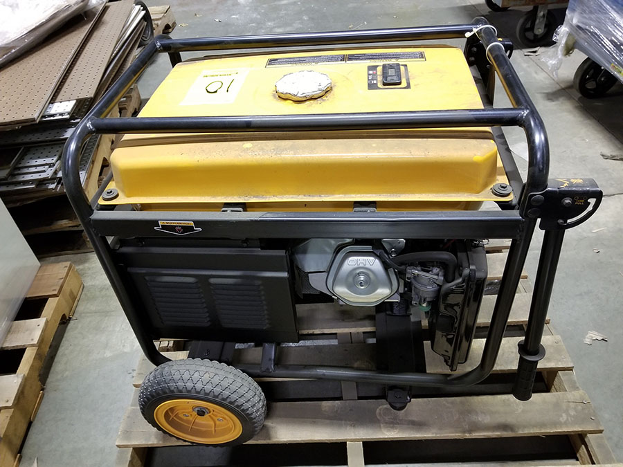 POULAN PRO 6600 PORTABLE GENERATOR- (4) 110V PLUGS, (1) 120/240V, GAS POWERED, MODEL PP6600, S/N - Image 6 of 6
