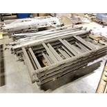 (4) SECTIONS OF ROLLING SCAFFOLDING- (4) 6' X 22'' DECKS, 70'' TALL SECTIONS, STACKABLE