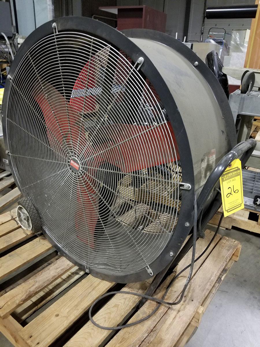 (2) DAYTON 36'' MOBILE AIR CIRCULATORS,MODEL 3C674D, 825 RPM, 1/2 HP - Image 4 of 6