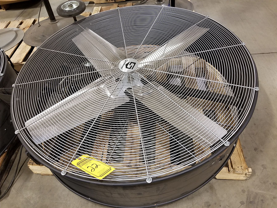 STRONGWAY 48'' BELT DRIVE DRUM FANS, MODEL 49935, 120V, 60HZ, 9A, LO/HIGH SWITCH - Image 2 of 5