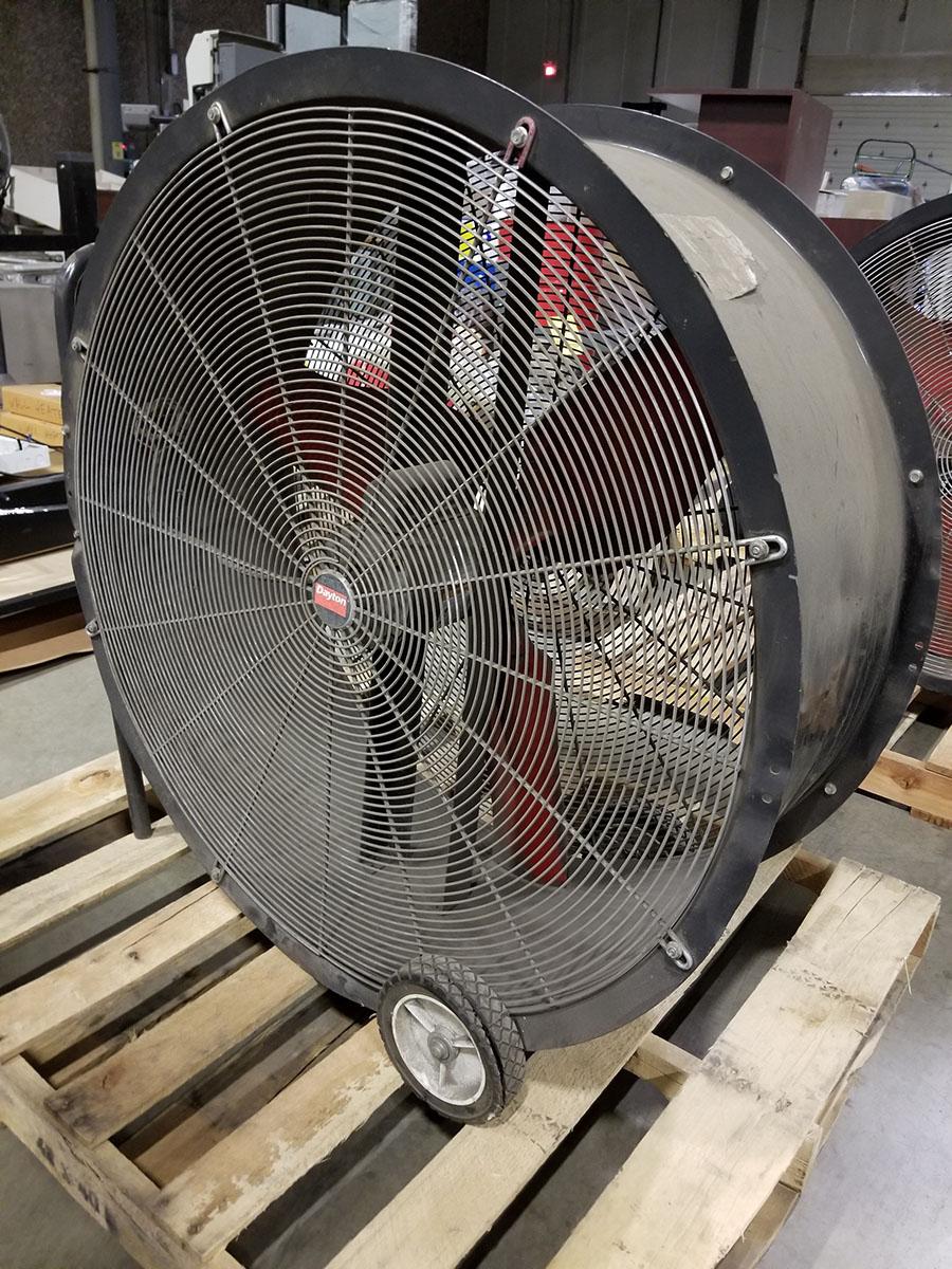 (2) DAYTON 36'' MOBILE AIR CIRCULATORS,MODEL 3C674D, 825 RPM, 1/2 HP - Image 3 of 6