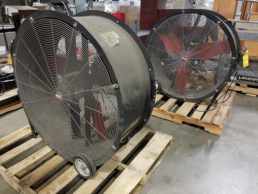 (2) DAYTON 36'' MOBILE AIR CIRCULATORS,MODEL 3C674D, 825 RPM, 1/2 HP - Image 2 of 6