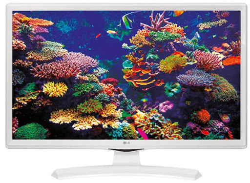Lot 16021 - + VAT Grade A LG 24 Inch HD READY LED TV WITH FREEVIEW HD - WHITE 24TK410V-WZ