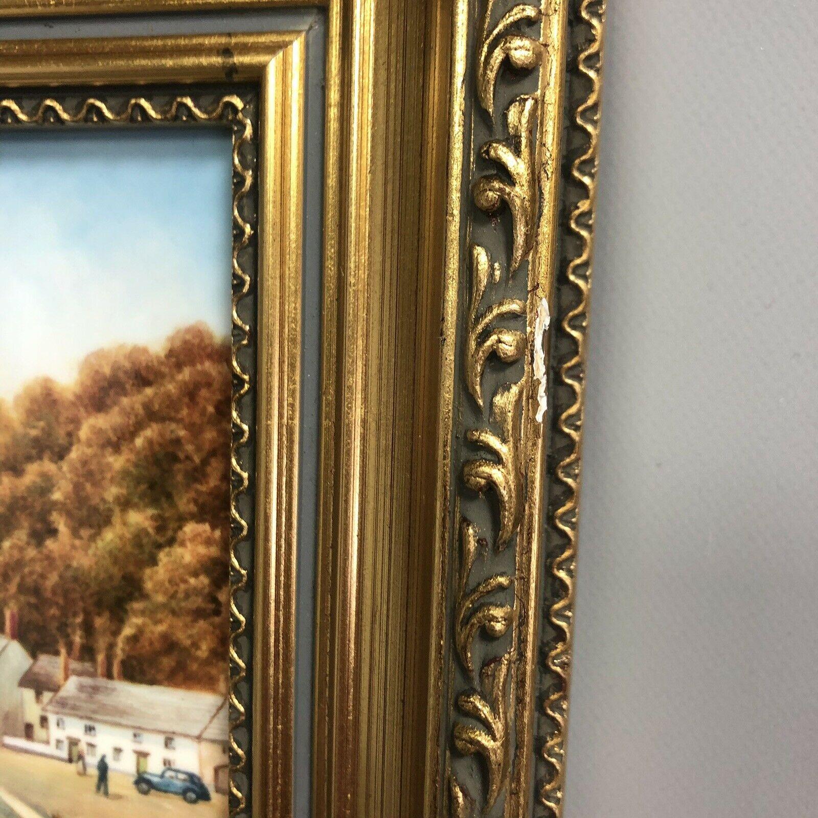 Lot 2 - Framed Porcelain Plaque Harbour Painted by Royal Worcester Artist Francis Clark