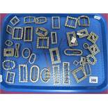 A Collection of Assorted Antique and Vintage Buckles:- One Tray