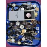 A Collection of Assorted Gents Wristwatches, including Adidas, Rado, Timex, Rotary, Slazenger