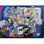 A Collection of Dog Themed Brooches, Pins and Badges:- One Tray