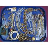 A Collection of Vintage and Later Ornate Costume Jewellery, including a Czechoslovakian style