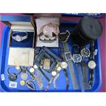Ladies and Gent's Wristwatches, including vintage Timex and ladies automatic Seiko, Ronson