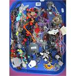 A Mixed Lot of Assorted Costume Jewellery, including bead necklaces, pendants on chains, etc:- One