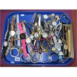 A Mixed Lot of Assorted Ladies Wristwatches, including Rado, Gossip, Le Chat, Avia, etc:- One Tray