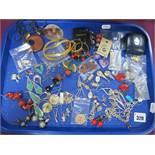 """925 and Other Earrings, """"Mexico 925"""" earrings, etc:- One Tray"""