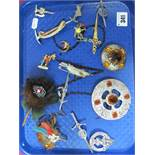 A Small Collection of Celtic and Other Style Brooches:- One Tray