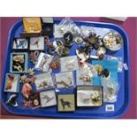 A Variety of Assorted Costume Brooches, including ornate animals, birds, butterflies, etc:- One