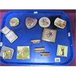 """A Collection of Assorted Vintage Powder Compacts, including KIGU, KIGU Cheri (personalised """"E""""),"""