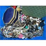 A Large Mixed Lot of Costume Jewellery, including imitation pearl bead necklaces, modern style