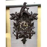 LATE 19TH CENTURY/EARLY 20TH CENTURY BAVARIAN CARVED CUCKOO CLOCK,