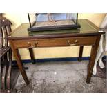 VICTORIAN MAHOGANY CROSSBANDED SINGLE DRAWER SIDE TABLE BEARS A METAL LABEL GILLOWS & CO 176 OXFORD