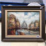 20TH CENTURY OIL ON CANVAS OF A PARISIAN SCENE, SIGNED S.