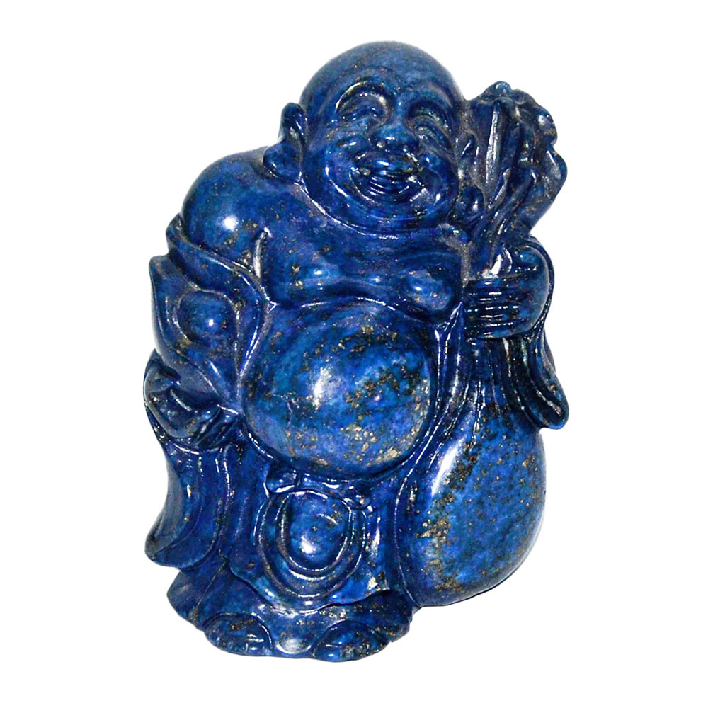 Lot 55 - 青金石雕布袋和尚 A Well Carved Lapis Lazuli Budai Maitreya Height: 3½ in (8.9 cm) Weight: 467 g Starting