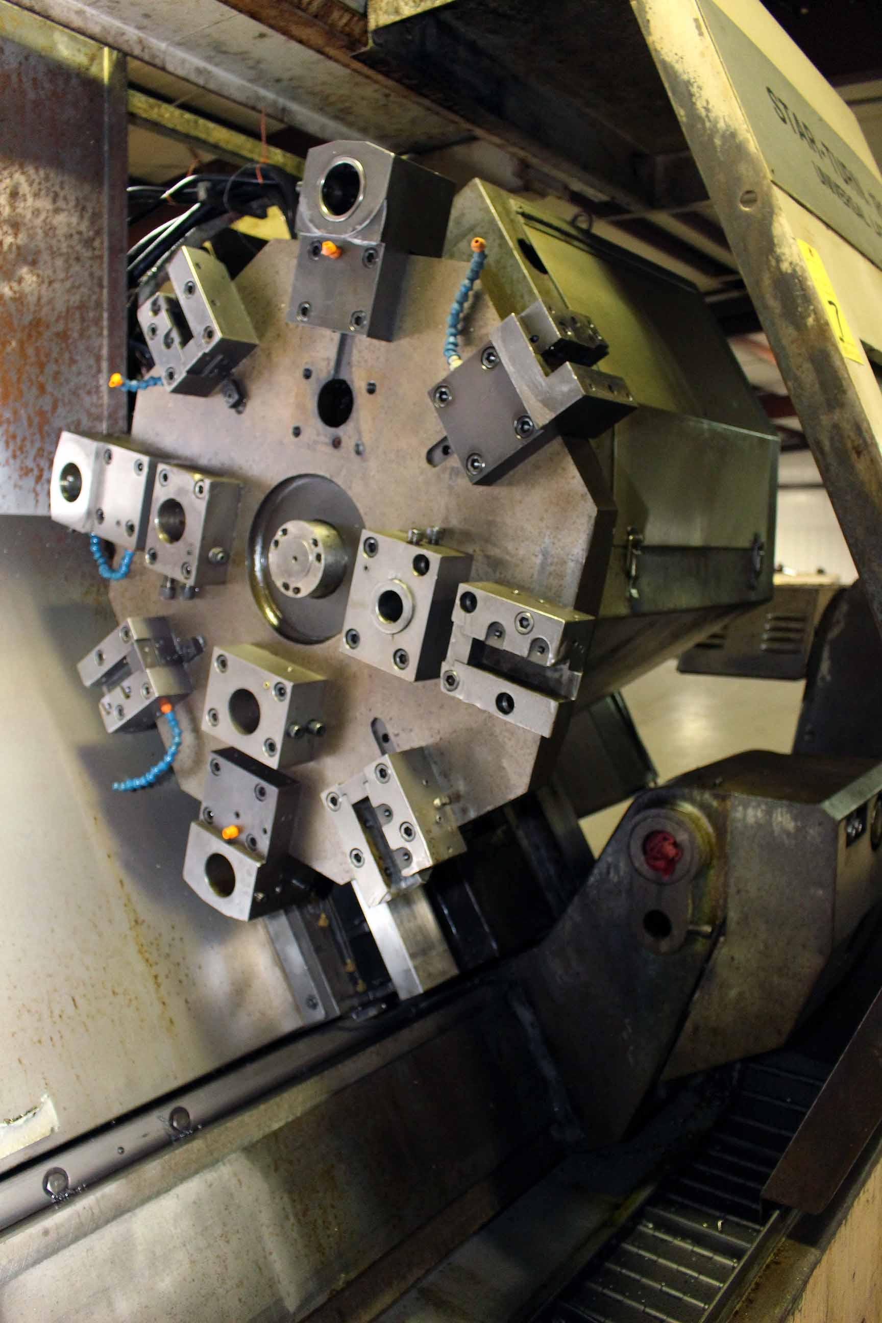 """Lot 7 - CNC LATHE, PRATT & WHITNEY MDL. STARTURN 1800, Fanuc 18T CNC control, 18"""" chuck, 80"""" dist. btn."""