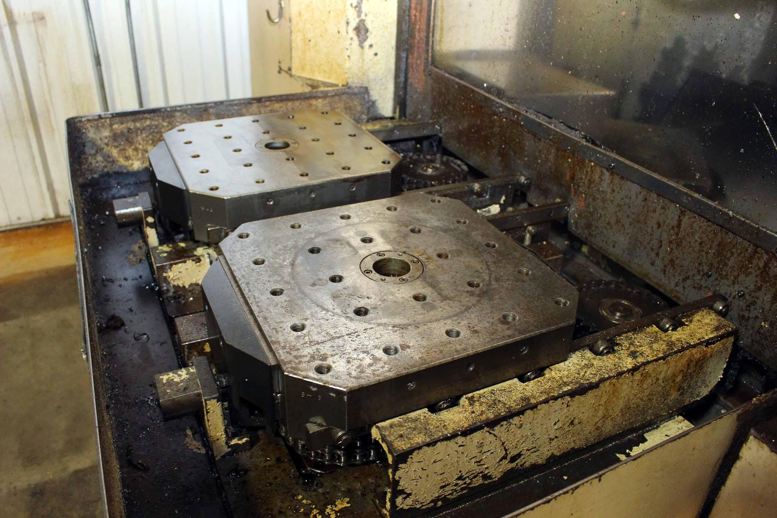 "Lot 4 - CNC HORIZONTAL MACHINING CENTER, OKUMA-HOWA MDL. MILLAC-4H, new 4/1984, Fanuc 6M CNC control, 20"""