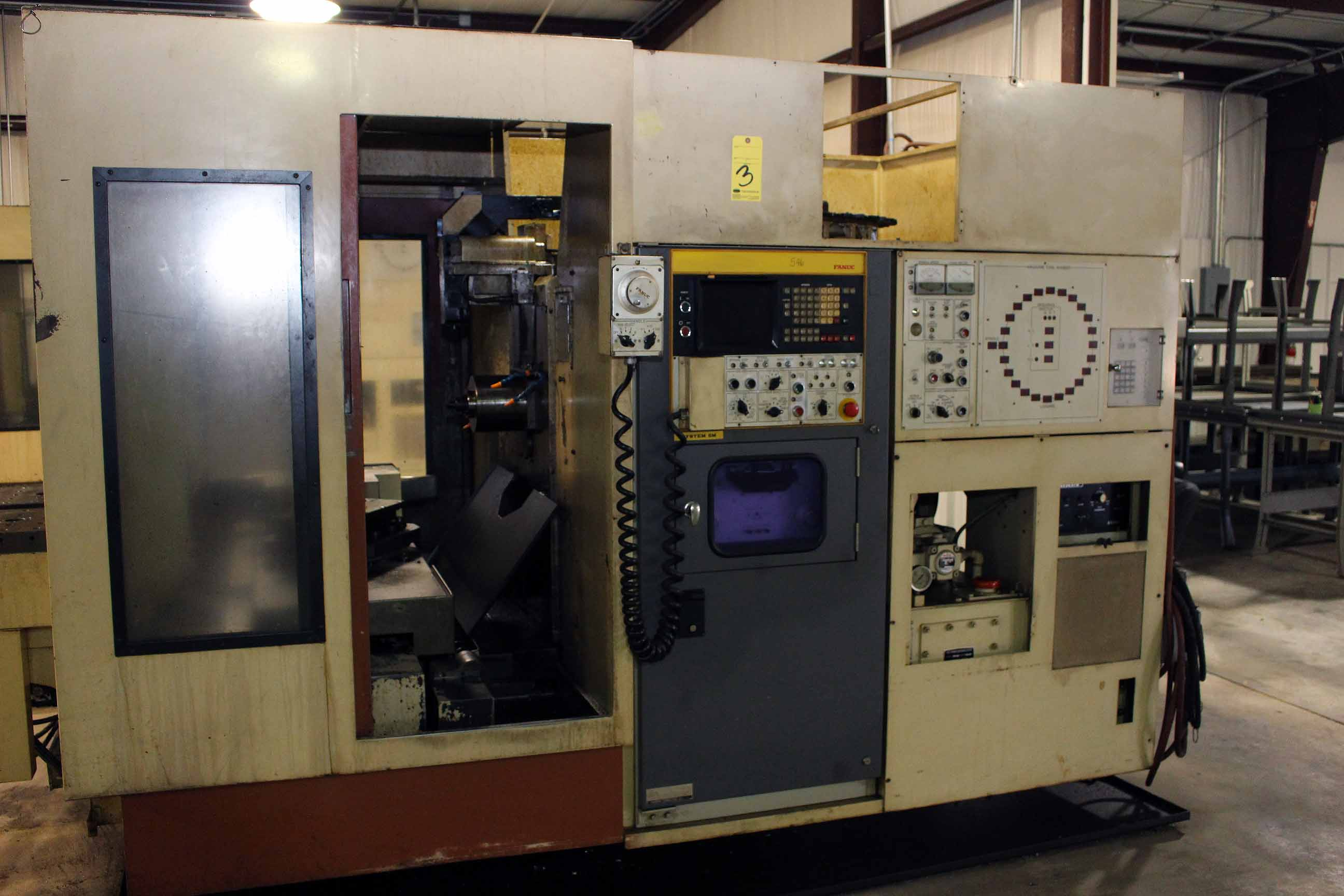 "Lot 3 - CNC HORIZONTAL MACHINING CENTER, OKUMA-HOWA MDL. MILLAC-4H, new 10/1981, Fanuc 6M CNC control, 20"" x"