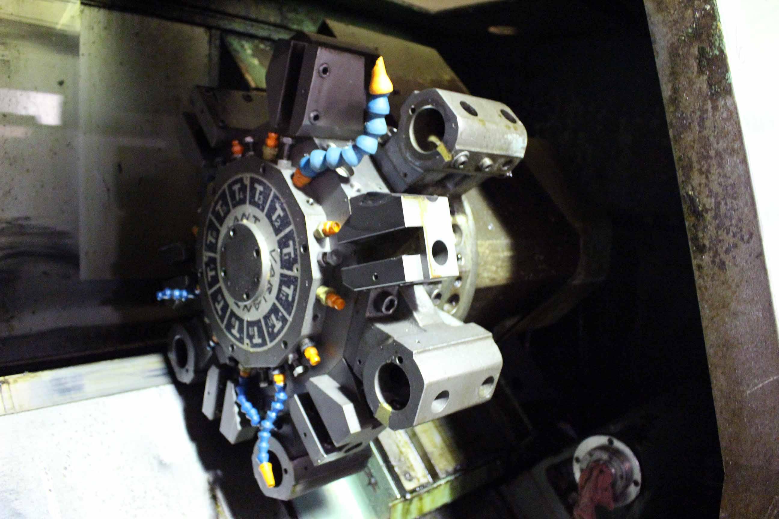 """Lot 6 - CNC LATHE, KITAKO VARIANT TURN, new 1980, Fanuc 6TB CNC control, 10"""" chuck, 22"""" dist. btn."""