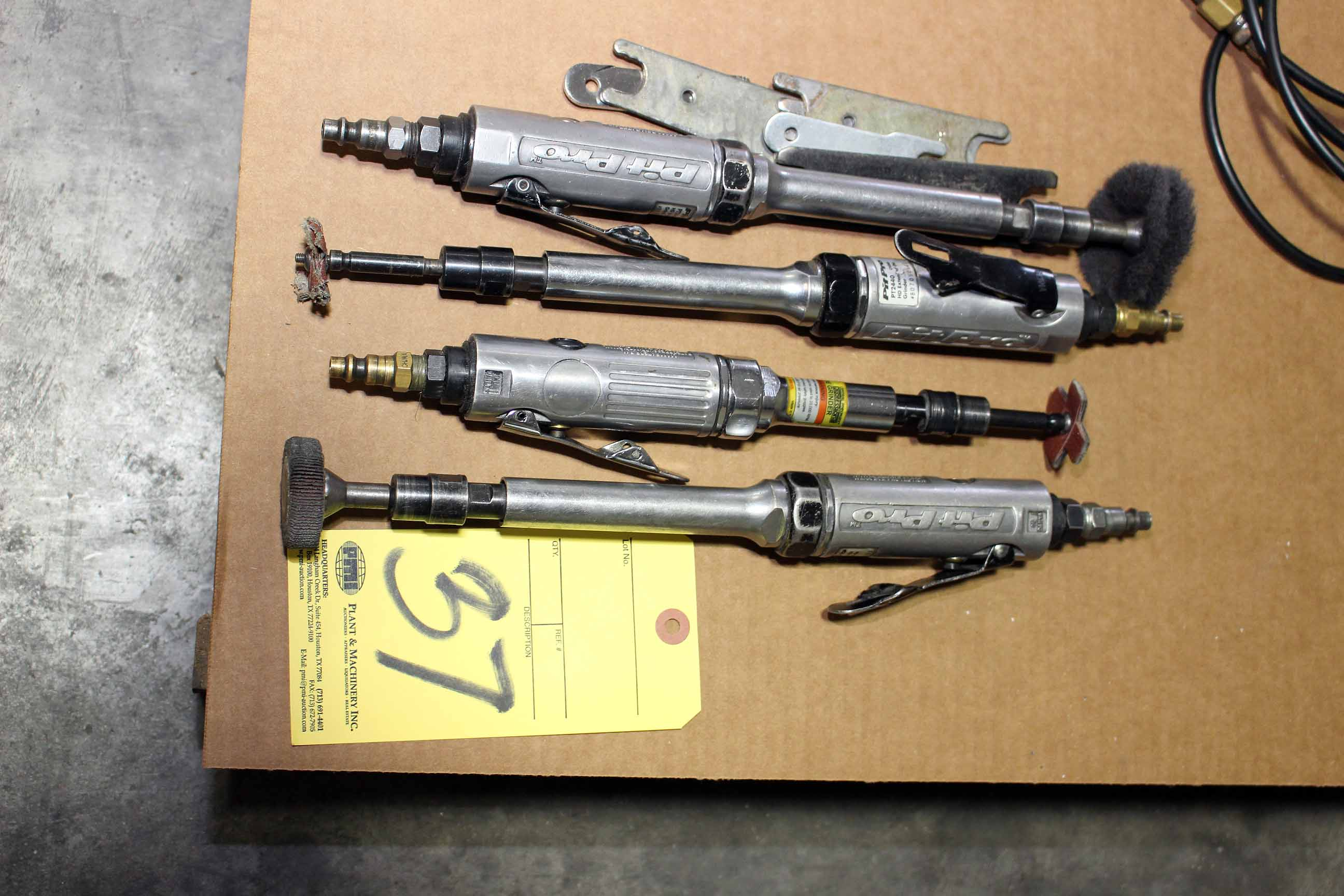 Lot 37 - LOT OF DIE GRINDERS, PNEUMATECH (Location A)