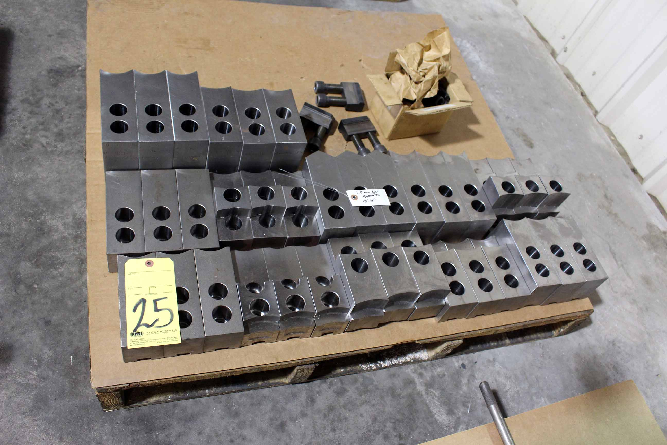 """Lot 25 - LOT OF SOFT JAWS, 1.5mm, 60 deg., 15"""" to 18"""" (Location A)"""