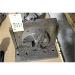 "ANGLE PLATE, w/8"" dia. 3-jaw chuck (Location A)"