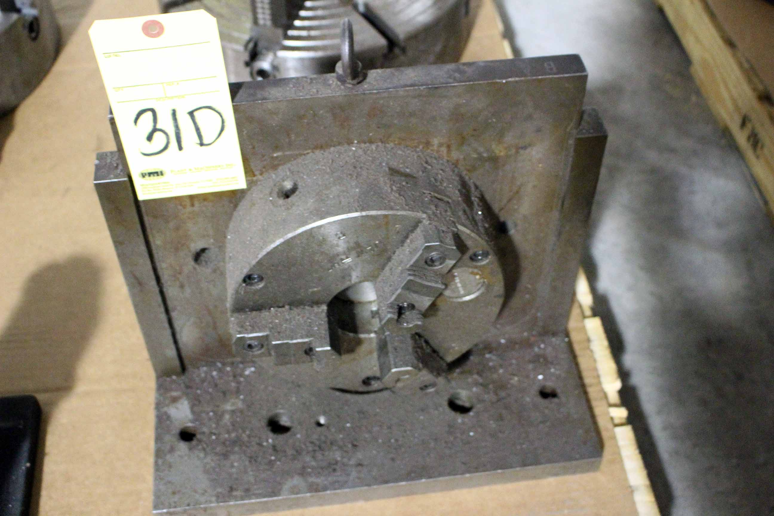 "Lot 31D - ANGLE PLATE, w/8"" dia. 3-jaw chuck (Location A)"
